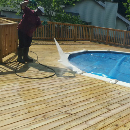 Composite Deck Cleaning and Fences